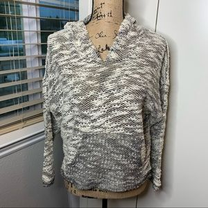 Kaii Marled Style Woven Hoodie Sweatshirt